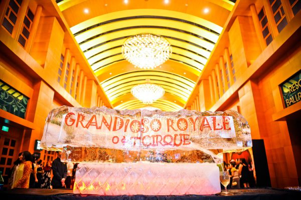 event-management-company-singapore-event-planners-OCBC-dinner-and-dance-circus-theme-rws-ballroom-ice-scuplture-4