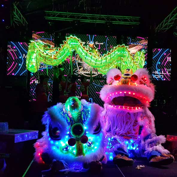 singapore-event-management-pre-event-fringe-activities-LED-Lion-Dance