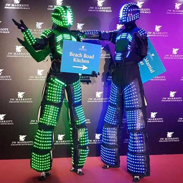 singapore-event-management-pre-event-fringe-activities-LED-Robot