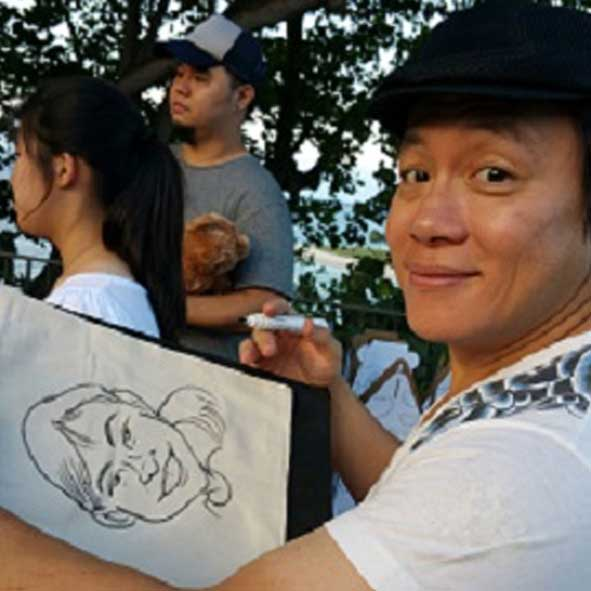 singapore-event-management-pre-event-fringe-activities-caricature
