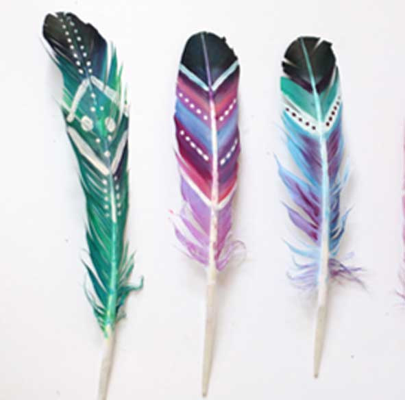 singapore-event-management-pre-event-fringe-activities-feather-pen-art