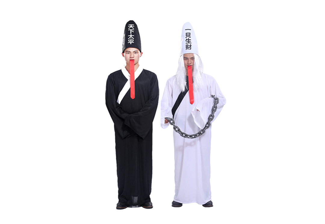 singapore-event-management-mascots-costumes-black-and-white-ghost