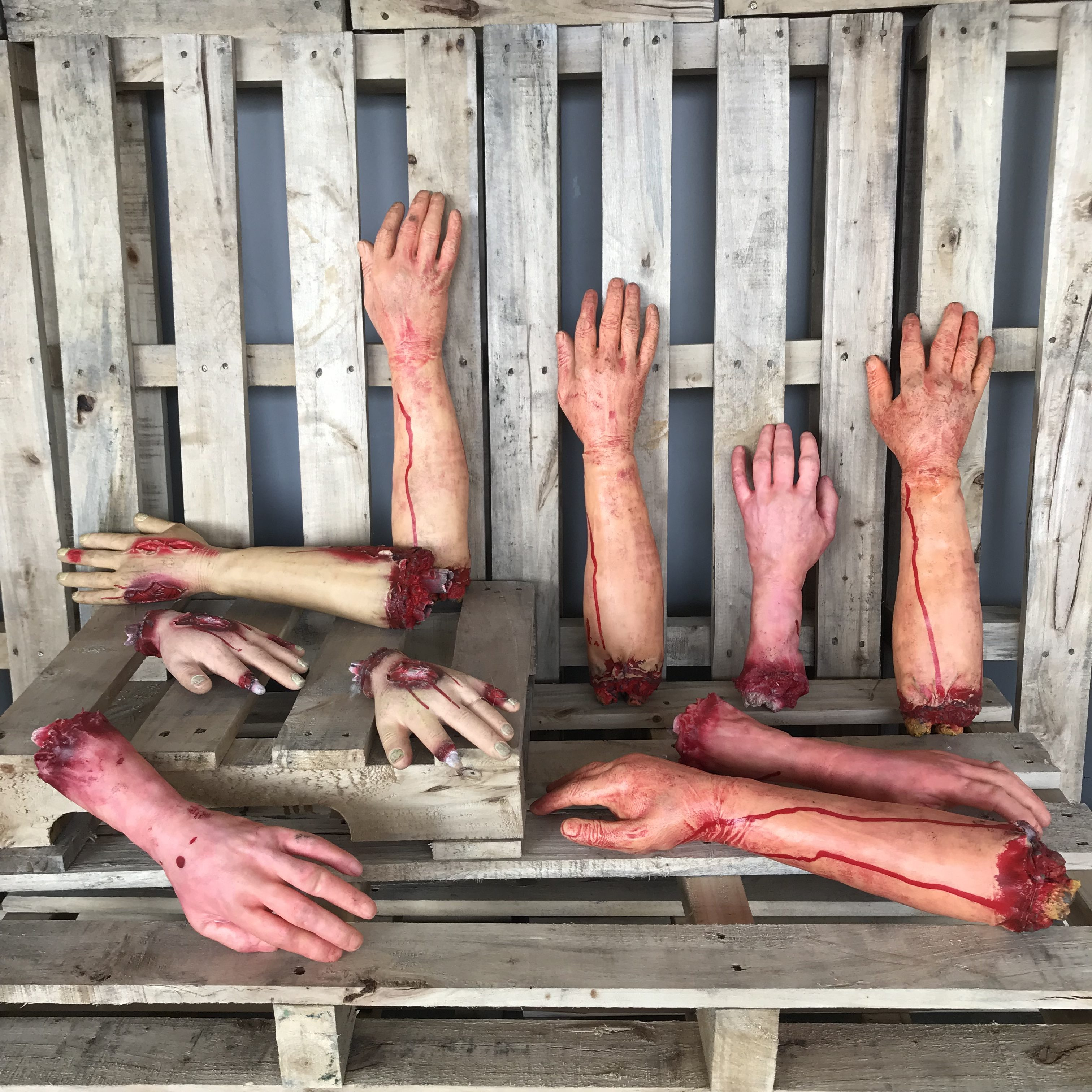 singapore-event-management-halloween-props-rental-limbs-hands-and-arms-set