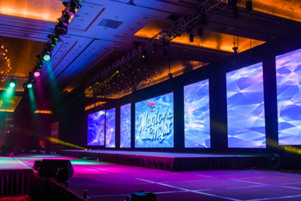 Online event services including LED backdrop design for your corporate events