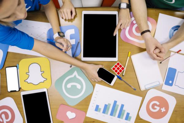 Online event services including design social media designs for all social media platforms