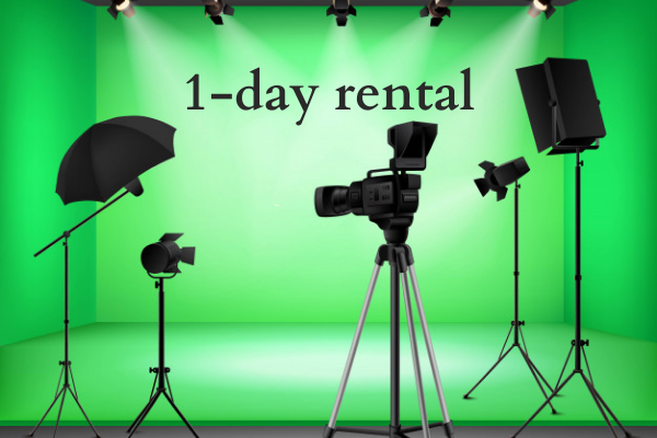 One day greenscreen rental in Singapore