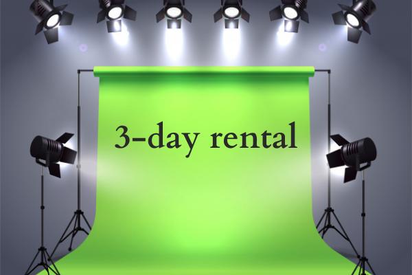 3-day green screen rental in Singapore