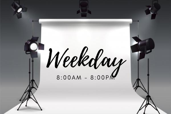 Online event services including studio rental