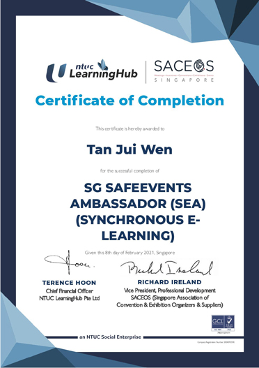 SafeEvent-Ambassador-Tan-Jui-Wen_SEA-Cert
