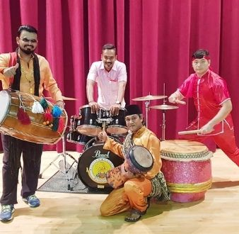 bands or instruments in Singapore, fusion drumming