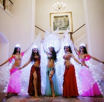 LED wing belly dancers in Singapore