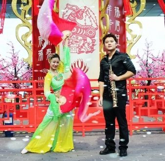 saxophone and chinese dance in Singapore