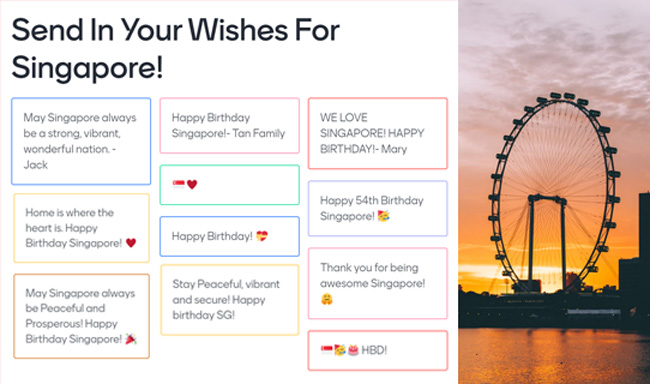 virtual-national-day-event-packages-singapore-event-company-activity-well-wishes-wall