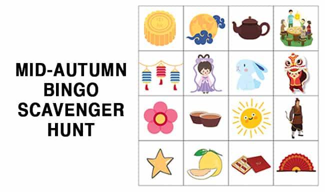 Virtual Mid Autumn Event Packages Bingo Scavenger Hunt